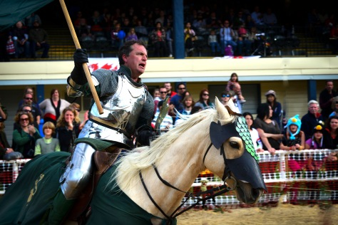 Green Knight with helmet