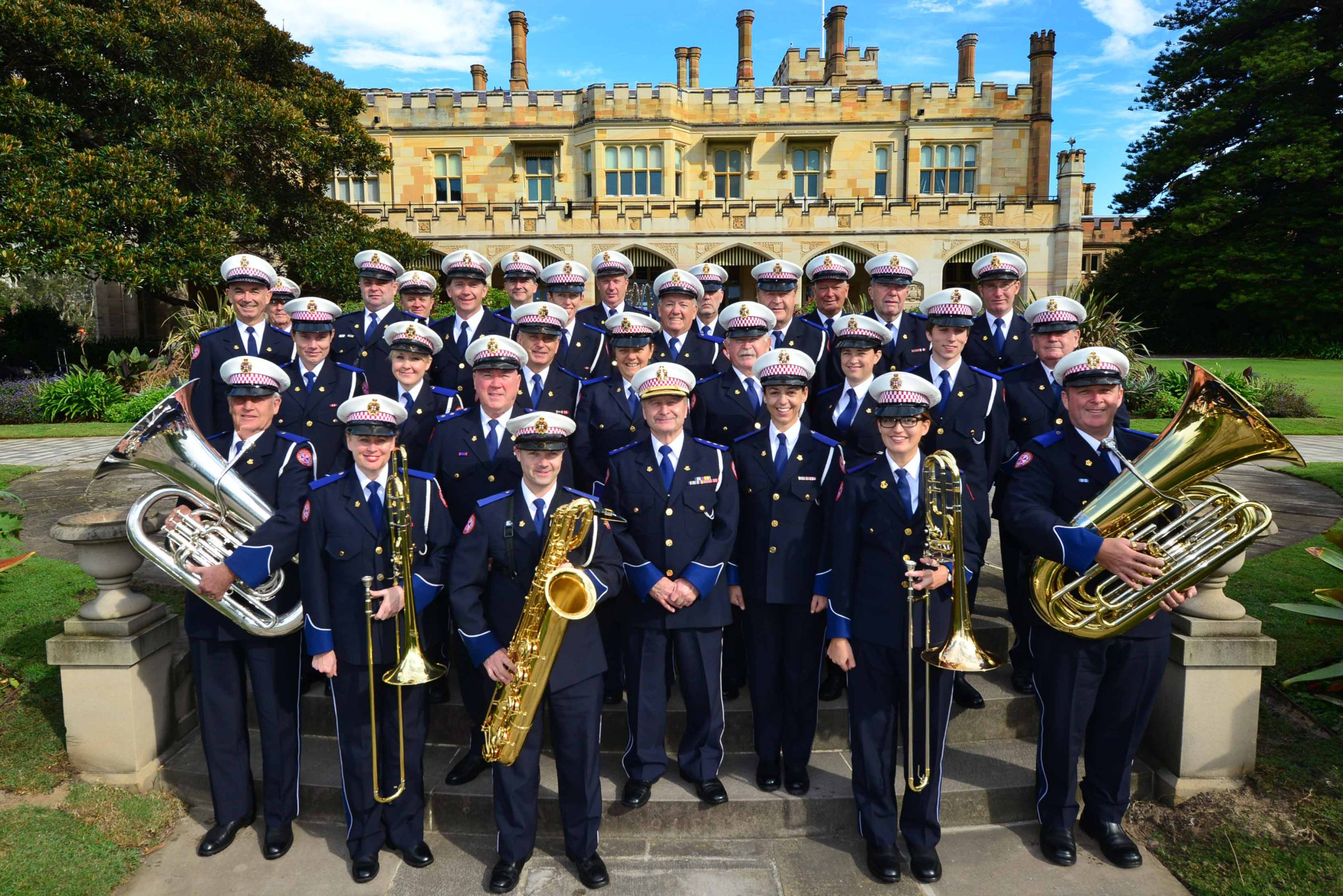 NSW Ambulance band at Government House