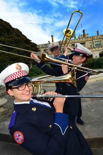 The Trombone Section of the NSW Ambulance Band at Government House