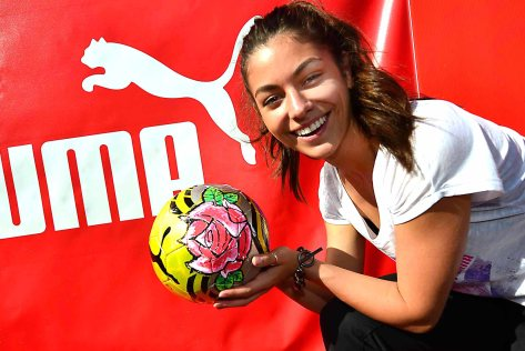 Jackie has the ball for PUMA