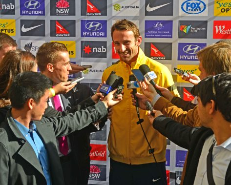 The winner goal scorer for the Socceroos in the nail biting finish against Iraq, Joshua Kennedy