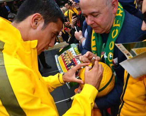 Sign this please ! and more to come as the fans make their plans to head for Brazil