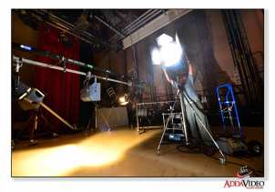 HMI lights are used in the studio or on location.