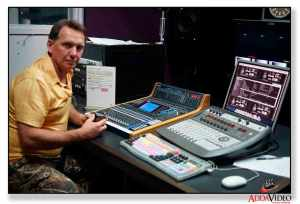 video production using the audio control room