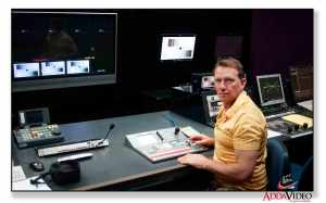 video production in the control room